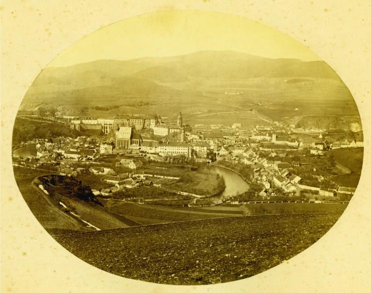 2.Franz Polak - pohled z Křížového vrchu, okolo 1870 (soukromá sbírka)