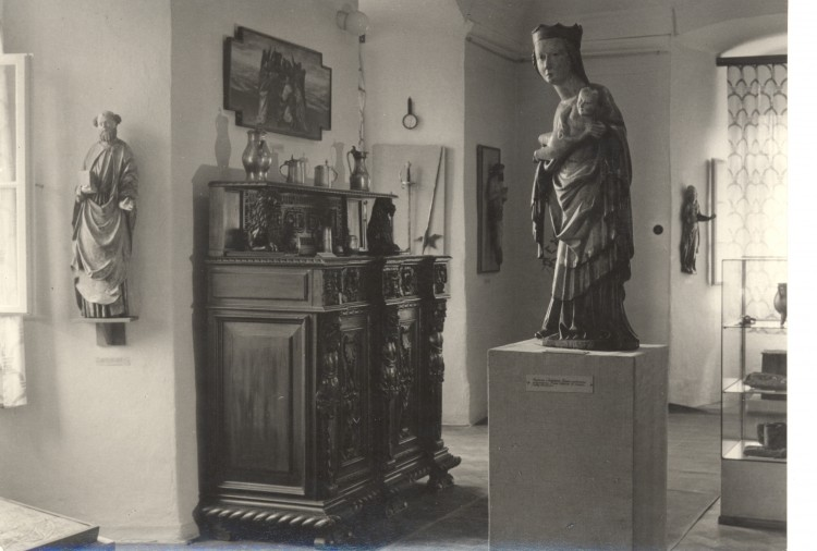 1956, pohled do expozice muzea.