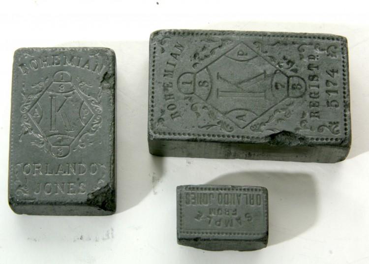 Vzorky tzv. havraního stříbra, Černá v pošumaví, kol. 1900