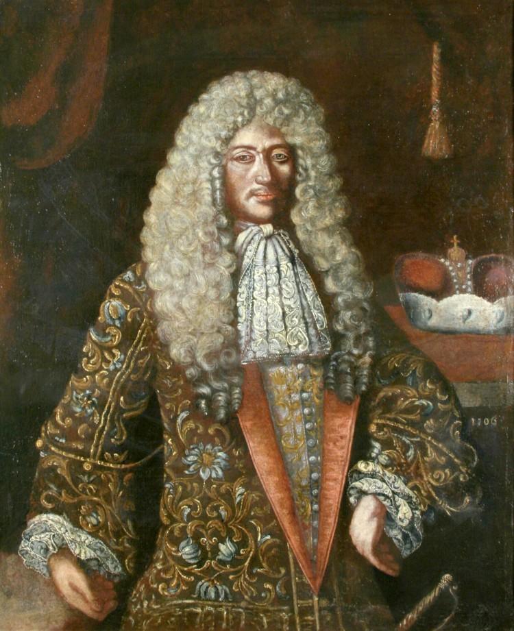 Portrét knížete Jana Kristiána z Eggenberku (1641-1710) Kopie dle de Weerle, 1706 (olejomalba na plátně)