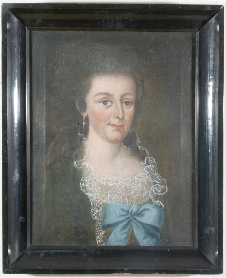 Portrét s dobovou módou, Českokrumlovsko, 2. pol. 18. století