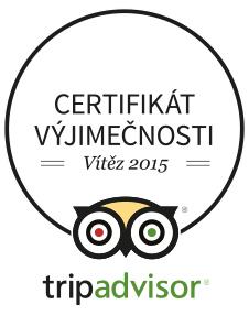 Tripadvisor certifikát výjimečnosti - vítěz 2015