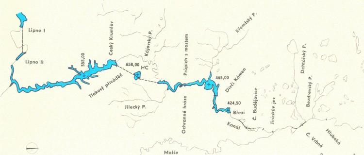 6_Plánovaná vodní díla Velký krumlov a Dívčí Kámen