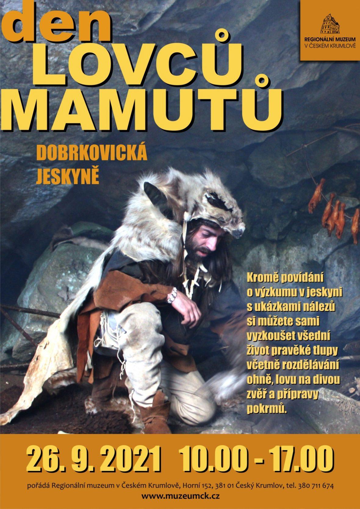 Plakát ke Dni lovců mamutů
